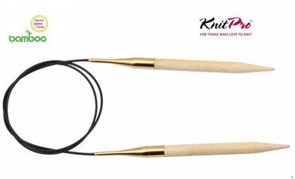Bild von KnitPro Bamboo Rundstricknadel 80cm