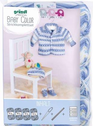 Bild von BABYGARNITUR STRICKSET Gründl Baby Color