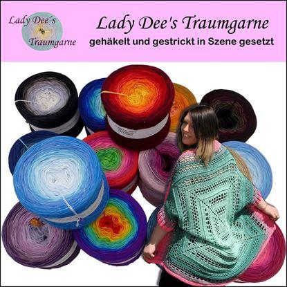 Bild von Buch Lady Dee´s Traumgarne gehäkelt und gestrickt in Szene gesetzt
