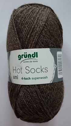 Bild von Gründl Hot Socks uni 50 Gramm schoko-meliert 10