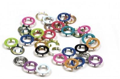 Bild von 20 Stück Jersey Druckknöpfe  Ring