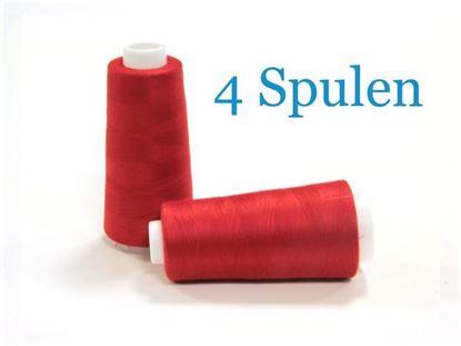 Bild von 4 Konen  Overlockgarn rot