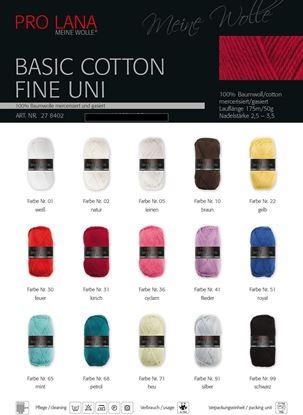 Bild von Pro lana Basic Cotton fine uni 500 Gramm Sparpaket