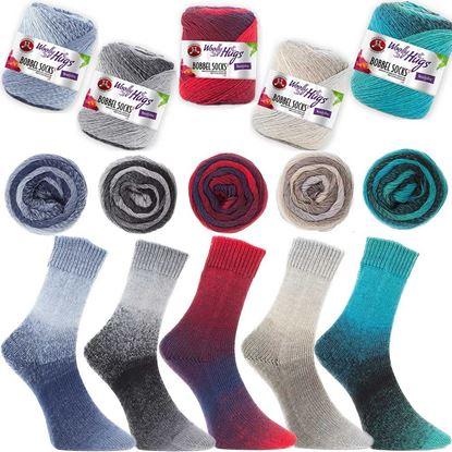 Bild von Woolly Hugs Bobbel Socks Sparpaket 500 Gramm