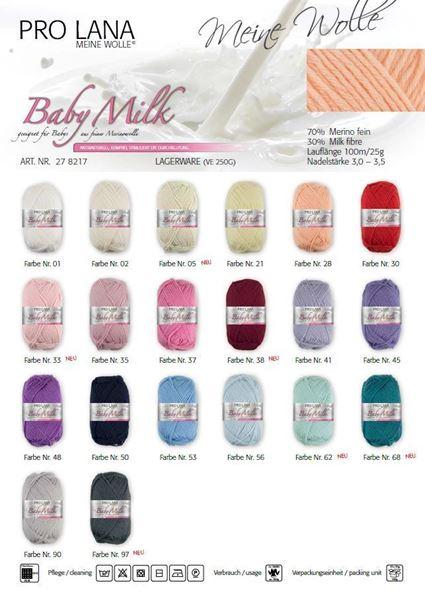 Bild von Pro Lana Baby Milk  aus 70% Merino fine und 30% Milchfaser