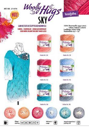 Bild von Woolly Hugs SKY / 500 Gramm /100% ägyptische Baumwolle