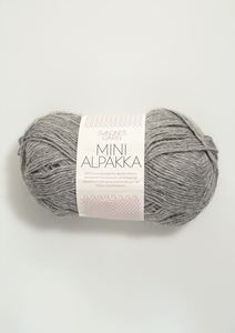 Bild von Mini Alpaka -Grau meliert -1042