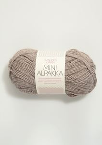 Bild von Mini Alpaka - Grau-beige meliert  -2650