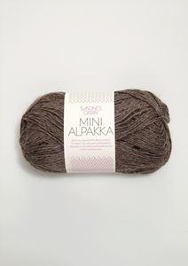 Bild von Mini Alpaka -  Mittelbraun meliert- 2652