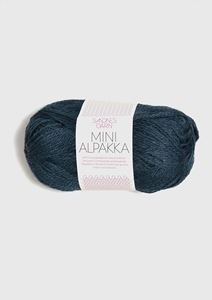 Bild von Mini Alpaka -Dunkelblau meliert-6572