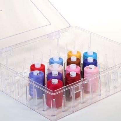 Bild von Nähgarn Aufbewahrungsbox für bis zu 80 Spulen / B Ware nicht mehr orginal verpackt!
