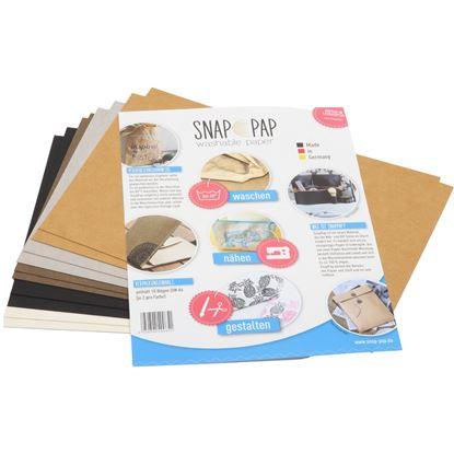 Bild von SnapPap 10 Bögen in DIN A4 gemischt veganes Leder