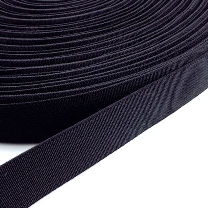Bild von Gummiband schwarz 20mm breit / 1 Meter